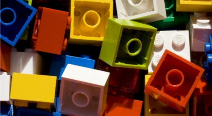 Building church with Lego blocks image
