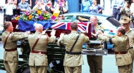 Read Military funeral for 'elder statesman'