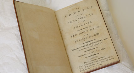"Johnson's major work ""Address to the Inhabitants of the Colonies"""