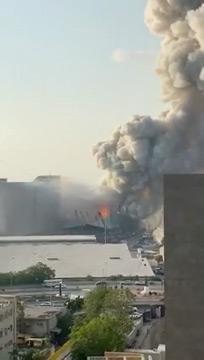 The moments before the fertiliser storehouse exploded.