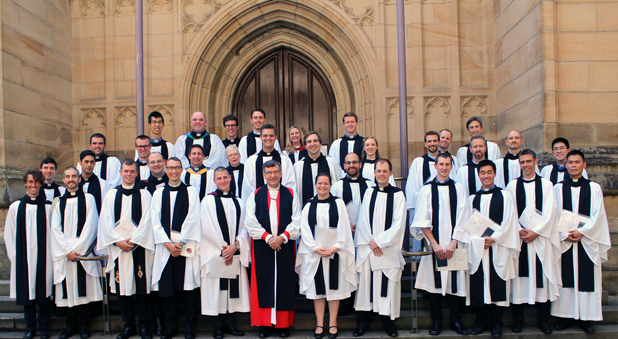 A group photo of ordinands after the service