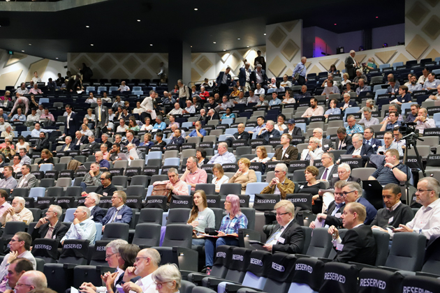 Part of the Synod crowd at the International Convention Centre