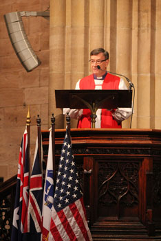 Archbishop Davies gives his address