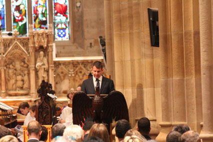 Premier Mike Baird reads from Isaiah 65