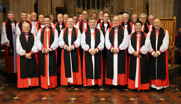 Bishops gathered for an official photo