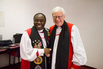 Archbishop Kwashi and Dr Jensen (photo; Stephen Nelson)