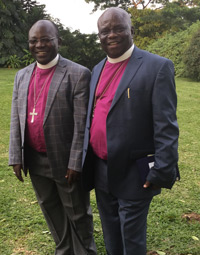 Bishop Désiré Mukanirwa (left) with Archbishop Masimango Katanda