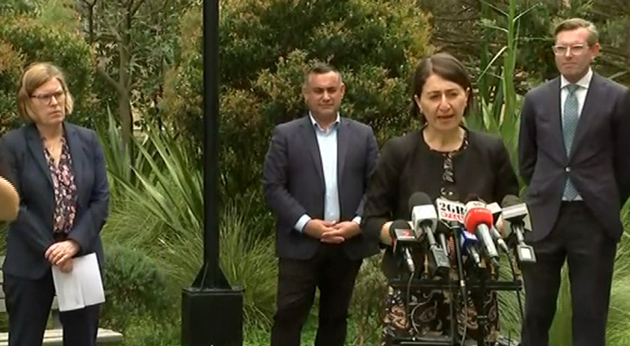 Premier Berejiklian announces the changes at a news conference.