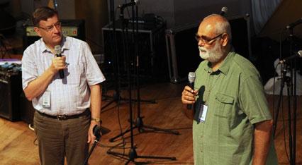 Archbishop Davies interviews Michael Abel on stage at GAFCON