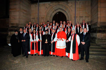 Various church leaders gather for an official photo