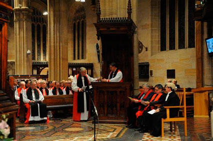 Dr Davies takes the Archbishop's seat
