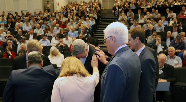 Earlier, Bishop-elect Jay Behan was introduced to the Synod with prayer.