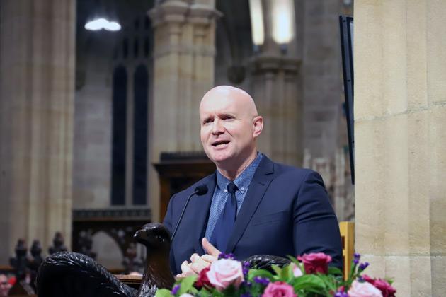The Rev Matt Yeo, speaking on behalf of clergy