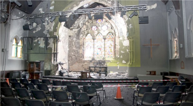 Read St Jude's Carlton damaged by fire