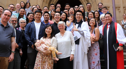 The Reverend Vincent Chan with Bishop Lin and the members of the Fairfield/Bossley Park congregation
