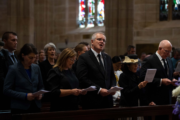 The Premier, the Prime Minister and Mrs Morrison and General and Mrs Hurley