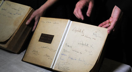 The Royal signatures on the First Fleet Bible and Prayer Book - Photo: Ramon Williams