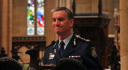 Commissioner Scipione leads in the Remembrance Prayer