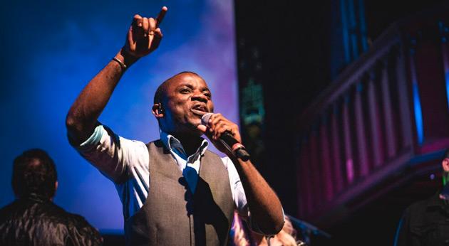 'Burundi Dave' in action at St Matt's, Manly (from St Matt's website)